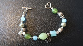 American Eagle Outfitters Green Blue Bracelet 7.75 inches - $8.90