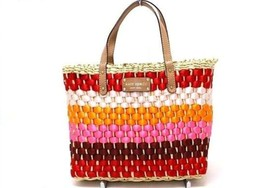 AUTHENTIC KATE SPADE Straw Square Bag Natural x Multicolor - $160.00
