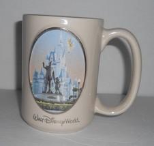 Walt Disney World Walt & Mickey Mouse Castle Pearl Luster Gold Rimmed Coffee Mug - $11.61