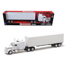 Kenworth W900 Plain White Unmarked 1/43 Model by New Ray NR15843 - $32.28