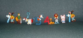 DISNEY MIXED CHARACTERS FIGURINES / CAKE TOPPERS PLASTIC LOT OF 8 PRE-OWNED - $18.00