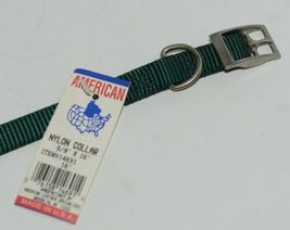 American Leather Specialties 14691 Dog Collar Green Small Nylon Pkg 1 image 4