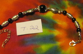 Bracelet Tibet Spiritual Mystery Elegance Power Sexuality Black Twin Fish T22 - $19.75