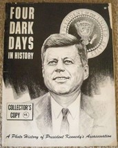 FOUR DARK DAYS IN HISTORY MAGAZINE JOHN F KENNEDY COVER 1963 COLLECTOR's... - $31.99