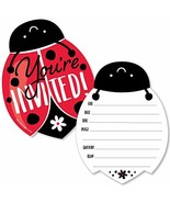 Happy Little Ladybug - Shaped Fill-in Invitations - Baby Shower or Birth... - $13.19