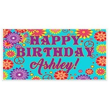Happy Birthday Banner Party Decoration Backdrop - €17,95 EUR
