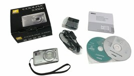 Nikon COOLPIX S3500 20.1MP Silver Digital Camera with Accessories ORG Bo... - $71.24