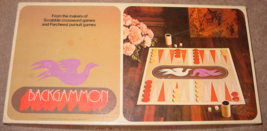 BACKGAMMON GAME  SELCHOW & RIGHTER GAMES  MAKERS OF SCRABBLE 1975 COMPLETE - $20.00