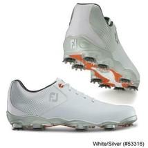 NEW! FootJoy [11.5] Medium DNA Helix Men Golf Shoes 53316-White/Silver/Orange - $227.69