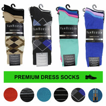 Van Heusen Men's Premium Multipack Striped Argyle Dress Socks in Assorted Colors