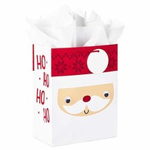 "Hallmark 11"" Large Christmas Gift (Santa Face with Googly Eyes) Bag with... - $8.34"