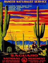 Saguaro National Monument - 1930's - Travel Advertising Poster - $9.99+