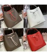 NWT Michael Kors Suri Large Logo Leather Bucket Crossbody Bag Multi Color - $116.35 - $145.45