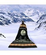 "EXTRA LARGE SOFT & WARM ALPACA WOOL BLANKET 79x92"" WOLF PATTERN REVERSIBLE - £71.93 GBP"