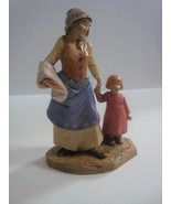 Fontanini 1999 Woman with Young Girl 295, piece missing - $1.99