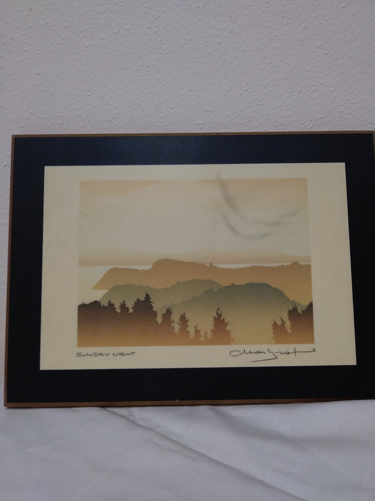 Sunday Night by Peter and Traudi Markgraf Wood Plaque Signed Art Work Print