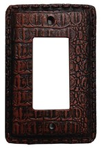 Alligator Texture Leather Resin Single Rocker Switch Cover Plate - $14.85