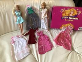 VINTAGE 1987 Barbie Clone Totsy Mini Mod Doll & Charming Diana Fashion Box - $49.49