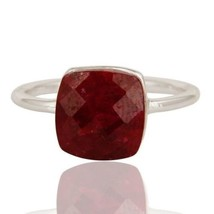 Natural Pink Ruby Corundum Gemstone 925 Sterling Silver Ring,Bridal Gift... - $23.00