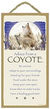 Advice From a Coyote - Wooden Sign Plaque - $25.00