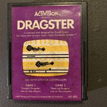 ATARI 2600 Dragster tested video game cartridge Activision 1980 AG-001 racing - $3.99