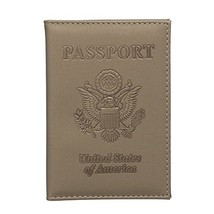 ZONGSHU PU Leather Passport Holder Cover - RFID Blocking Travel Passport... - $4.89