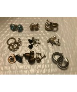 Vintage costume EARRINGS MIXED LOT OF 9 Pairs of  SCREW BACK Screwback E... - $17.59