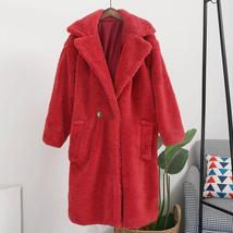 Luxury Fashion Leopard Long Thick  Faux Fur Teddy Bear Coat image 14