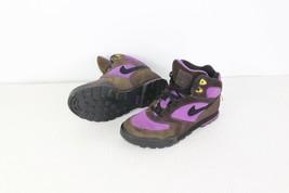 Vtg 90s Nike Damen 6 Caldera Plus Wildleder Knöchel Wanderschuhe Braun Lila - $71.05