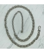"""Silver Tone Double Chain Link Belly Body Chain Link Belt One Size OS 35""""... - $14.70"""