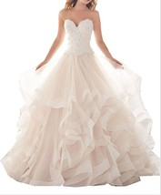 Cheap Tiered Skirt Lace Wedding Dress 2017,Sweetheart Wedding Gown,Bridal Dress  - $209.00
