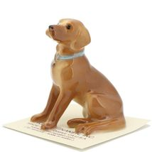 Hagen Renaker Dog Labrador Retriever Sitting Golden Ceramic Figurine image 3
