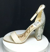 Sam Edelman Yaro Sandal Ankle Strap Heel Snake Print Size 8 NEW - $95.04