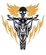 Skeleton Biker and Flames PDF Cross Stitch Chart  - $8.00