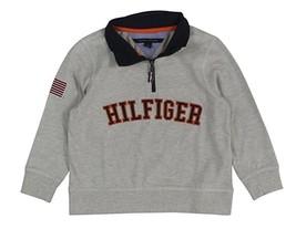 Tommy Hilfiger Little Boys Quarter-zip Sweat Grey Heather, Size 7 - $24.74