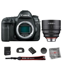 Canon EOS 5D Mark IV DSLR Camera Body with Rokinon Xeen 35mm T1.5 Lens - $3,898.92
