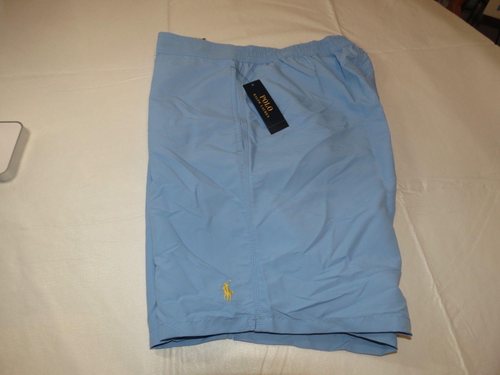 Mens Polo Ralph Lauren Board Shorts Swim shorts XL 710587928019 Lt Blue NWT