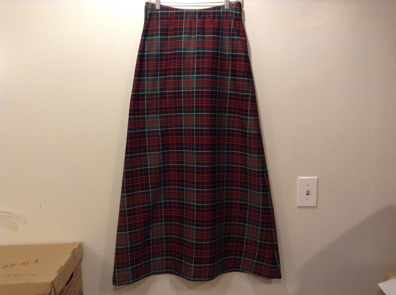 Rrrruss Plaid/Checked Pull-On Long Length Skirt