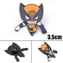 Superhero Hulk & Wolverine Badge Pin Marvel Avengers Lapel Brooch Cosplay Jewelr - $10.99