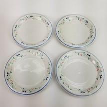 "Set Of 4 Allegro Stoneware 10 1/2"" Dinner Plates Hearthside Floral Pattern EUC - $42.06"