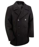 NEW US NAVY STYLE VINTAGE WOOL WINTER REEFER PEA COAT XXS XS S M L XL XX... - $78.58