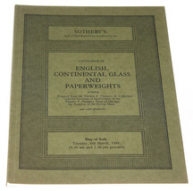 Sothebys Catalogue Catalog English Continental Glass & Paperweights Lond... - $11.83