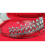 5.32ct rose cute diamond 925 silver wedding vintage reproduction tiara/crown - £656.85 GBP