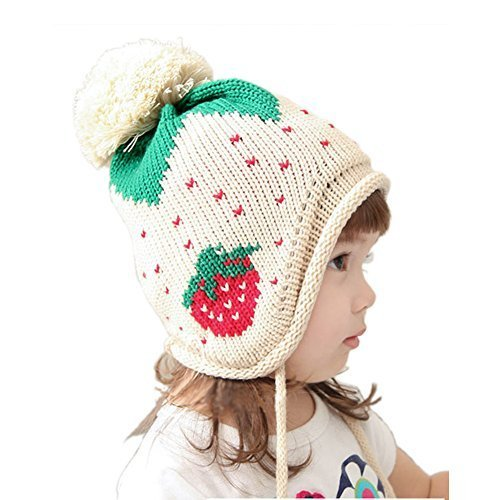 Baby Infant Toddler Cotton Knitting Wool Cap Ear Protection Handmade 5-18 Months