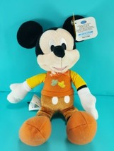 Disney Mickey Mouse Plush Stuffed Doll Security Toy Autumn Fall Outfit 9... - $16.82