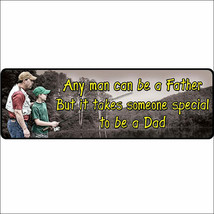 U-1425 10.5 inch x 3.5 inch RIVERS EDGE LARGE TIN SIGN ANY MAN CAN BE A ... - $10.95