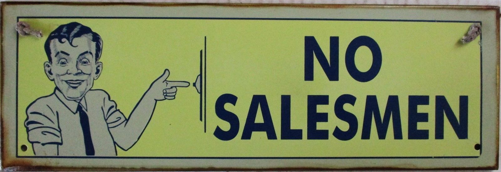 No Salesmen Metal Sign