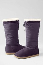LANDS' END Shearling BOOTS Size: 9 NEW Toddler Girl'sWith Tie - $59.99