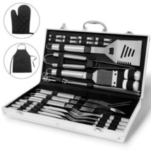 Heavy Duty Stainless Steel Barbecue Professional BBQ Grill Tool Set Outd... - $54.10