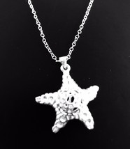 925 sterling silver Hollow 3d Starfish Pendant Necklace [PEN-89] - $15.90